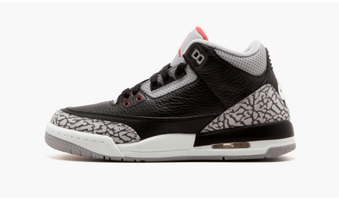 Jordan 3 Black Cement (Gradeschool) - Pimp Kicks