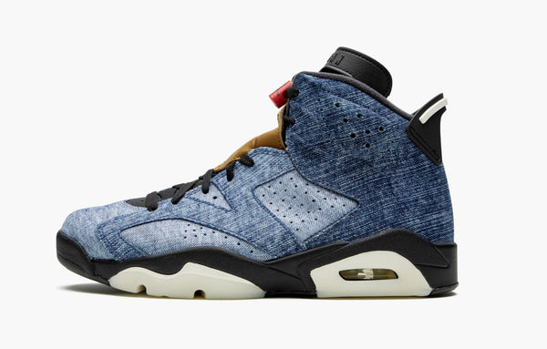 Jordan 6 Black Washed Denim Men's