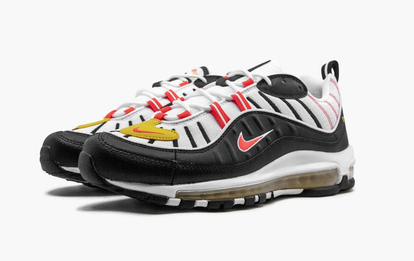 Nike Air Max 98 Black White Yellow Crimson Men's