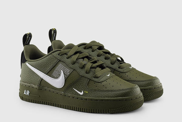 Nike Air Force 1 '07 LV8 Utility Moss Green (Gradeschool) - Pimp Kicks