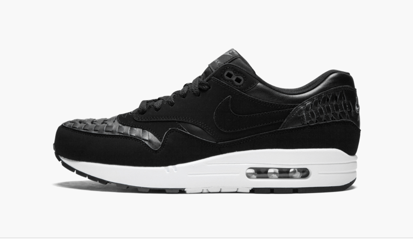 Nike Air Max 1 Woven Black Dark Grey Men's