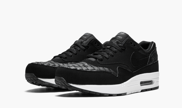 Nike Air Max 1 Woven Black Dark Grey Men's - Pimp Kicks