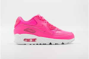 Nike Air Max 90 Leather Pink POw White (Gradeschool)