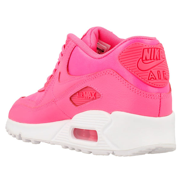 Nike Air Max 90 Leather Pink Pow White (Gradeschool) - Pimp Kicks
