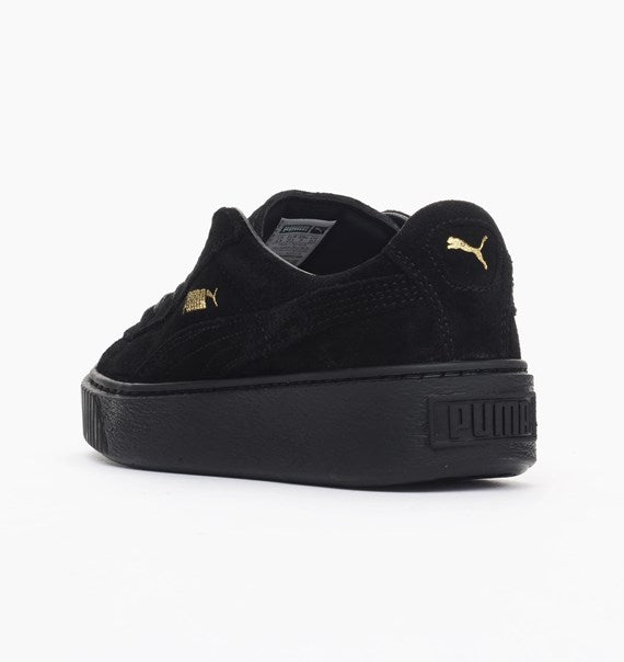 6b8854ebb48 ... Puma Suede Platform Metallic Gold Black Women s - Pimp Kicks
