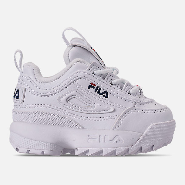 9189dd9681e9b ... Fila Disruptor 2 White Infant s - Pimp Kicks ...