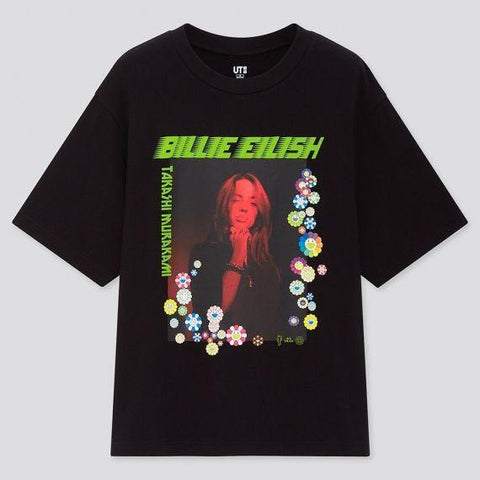 Uniqlo X Billie Eilish X Takashi Murakami UT Collab Black T-shirt