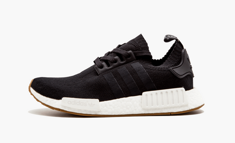 Adidas NMD R1 Primeknit Black Gums Sole Men's