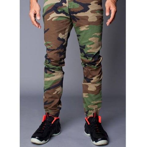 Pimp Kicks Jogger Pants Camo Woodland - Pimp Kicks