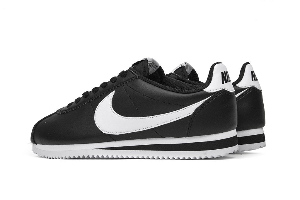 timeless design e7e54 ee898 Nike Cortez Basic Leather Black White Women's