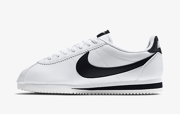Nike Classic Cortez Leather White Black Women's - Pimp Kicks