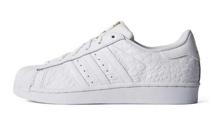 Adidas Superstar White Gold Croc Men's