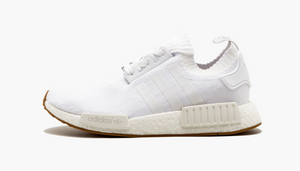 Adidas NMD R1 Primeknit White Gum Sole Men's - Pimp Kicks