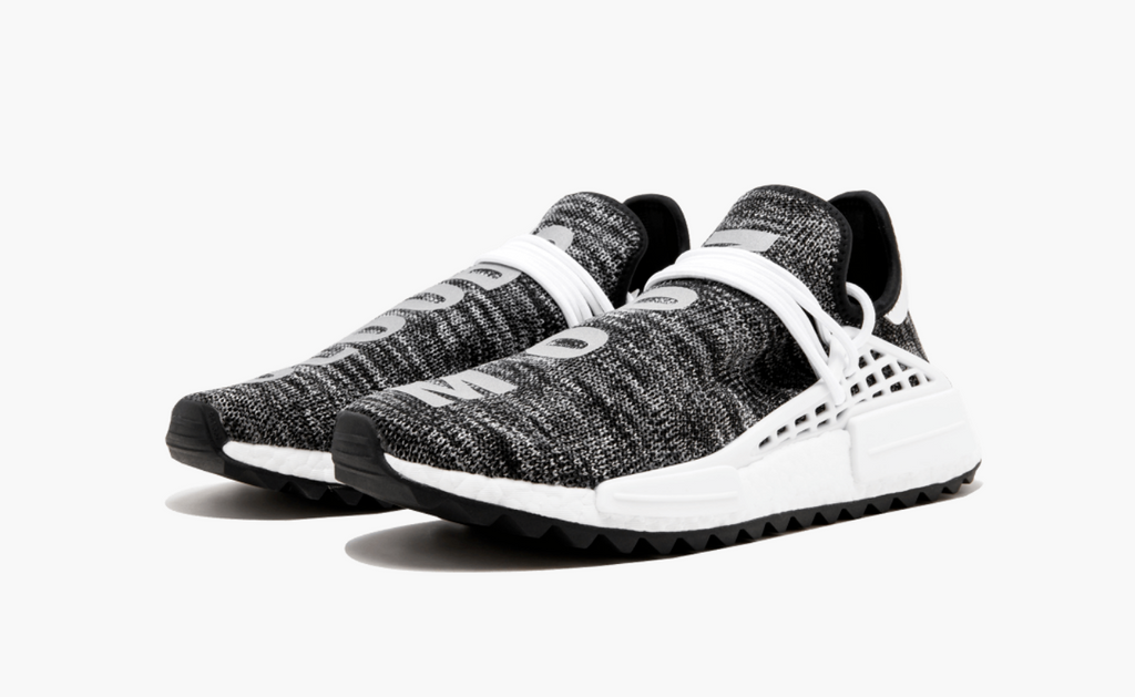 hot sale online 88a66 fa49e ... Adidas NMD Pharrell Human Race Trail Oreo Mens - Pimp Kicks ...