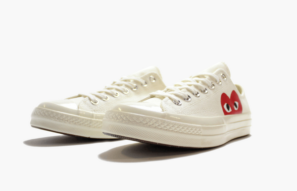 Converse X CDG Chuck Taylor All Star Low Play White Men's - Pimp Kicks