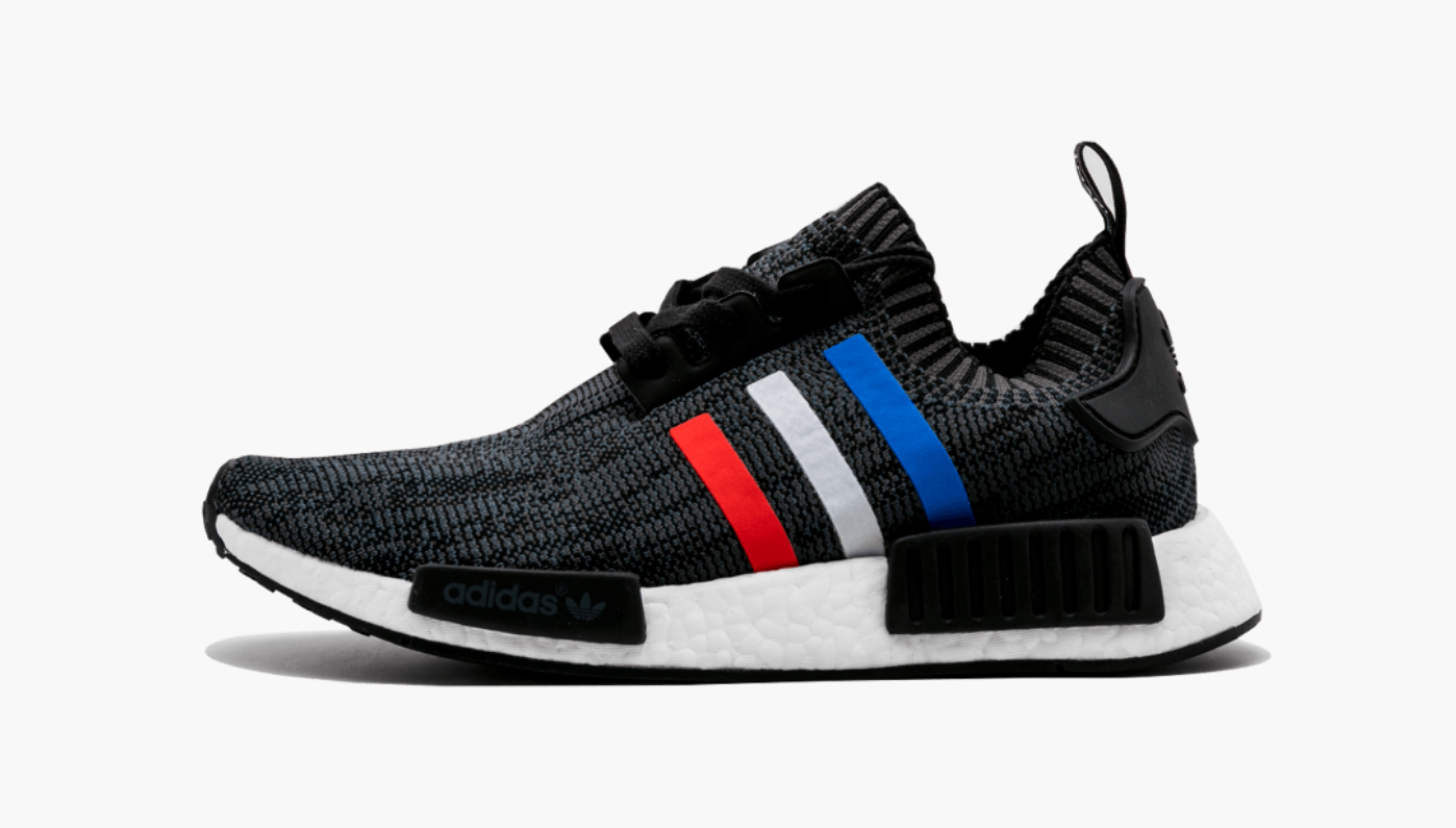 Adidas NMD R1 Primeknit Tri-Color Black Men's - Pimp Kicks