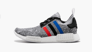 Adidas NMD R1 Primeknit Tri-Color White Men's - Pimp Kicks