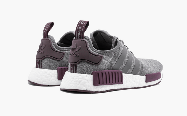 Adidas NMD R1 Wool Gray Maroon Men's - Pimp Kicks