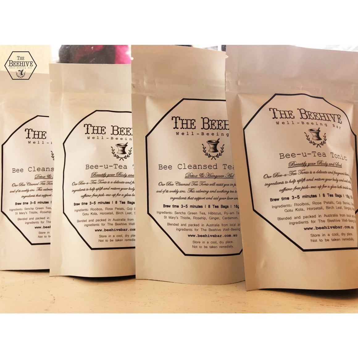 4 Pack Tea Tonics - The Beehive Well-Beeing Bar