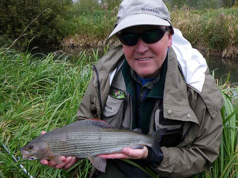 Steve Donohue & a big Driffield Beck grayling