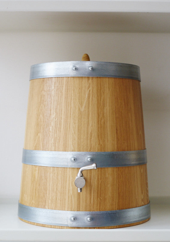 French Oak Wooden Vinegar Barrel - 10 litre - Vinegar Shed