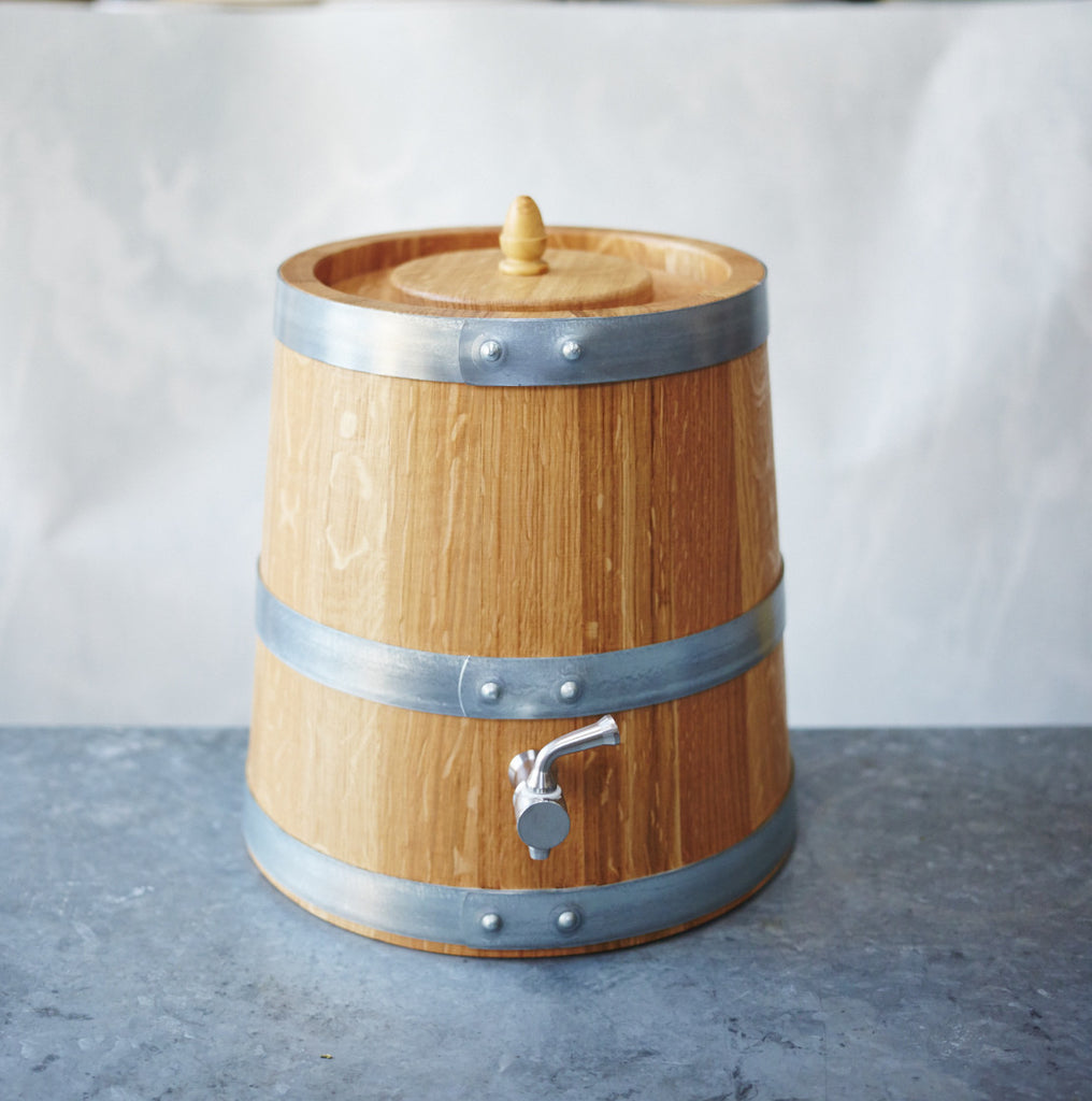 French Oak Wooden Vinegar Barrel - 3 litre - Vinegar Shed