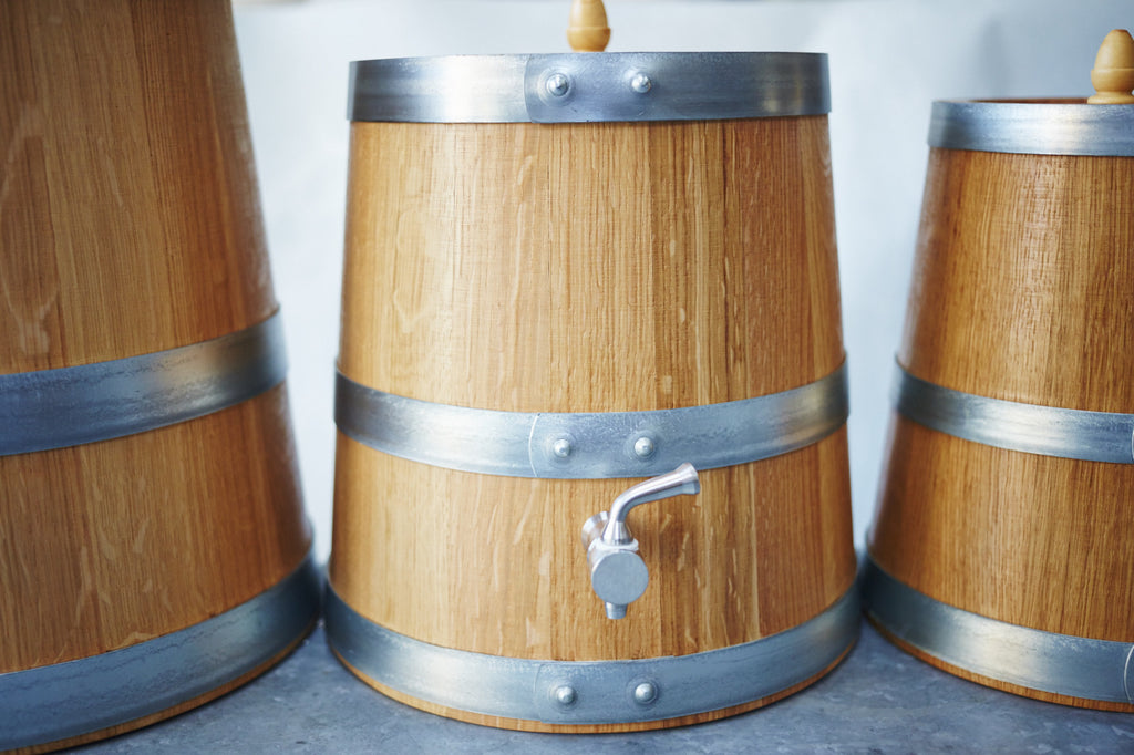 French Oak Wooden Vinegar Barrel - 6 litre - Vinegar Shed