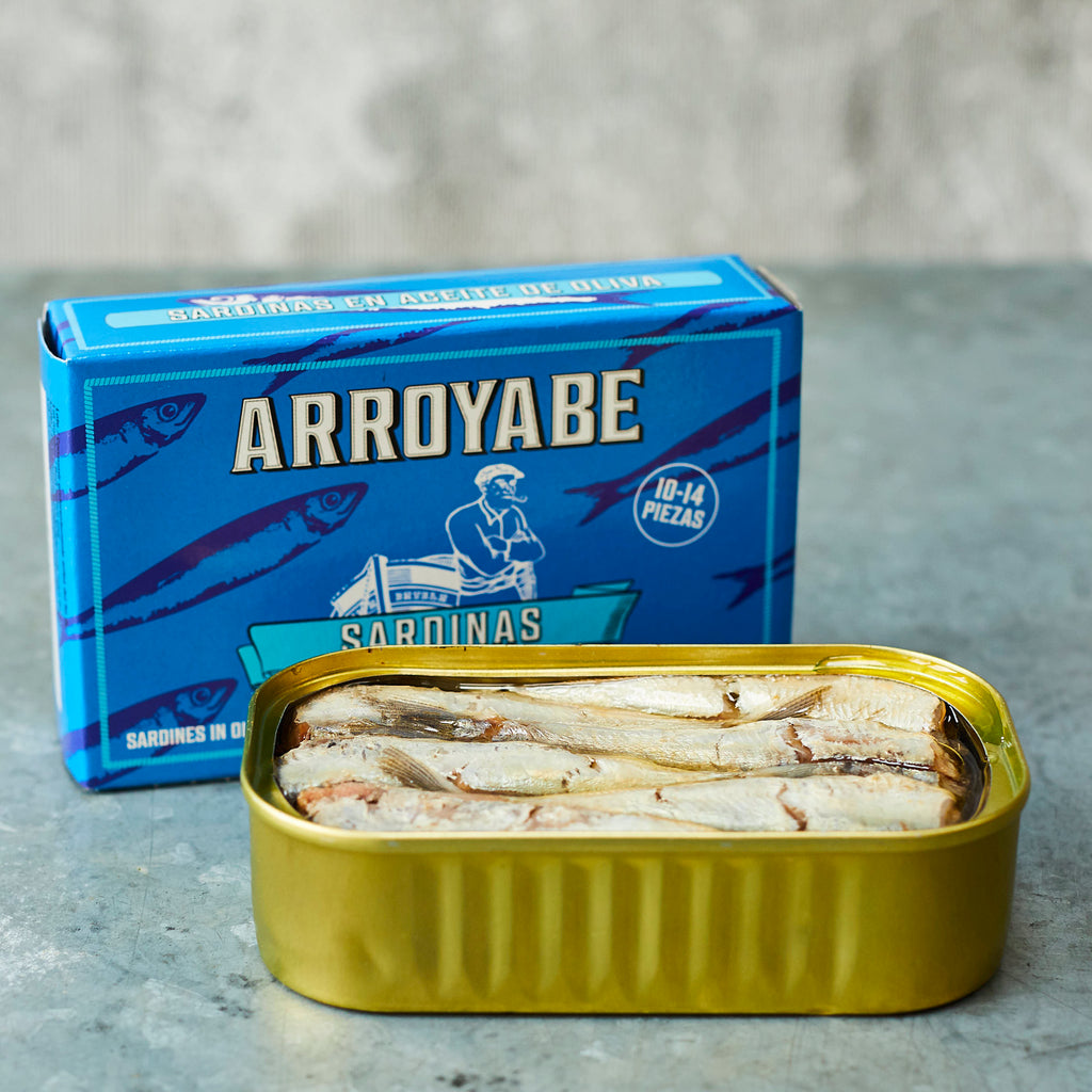 Arroyabe Baby Sardines in olive oil - Vinegar Shed