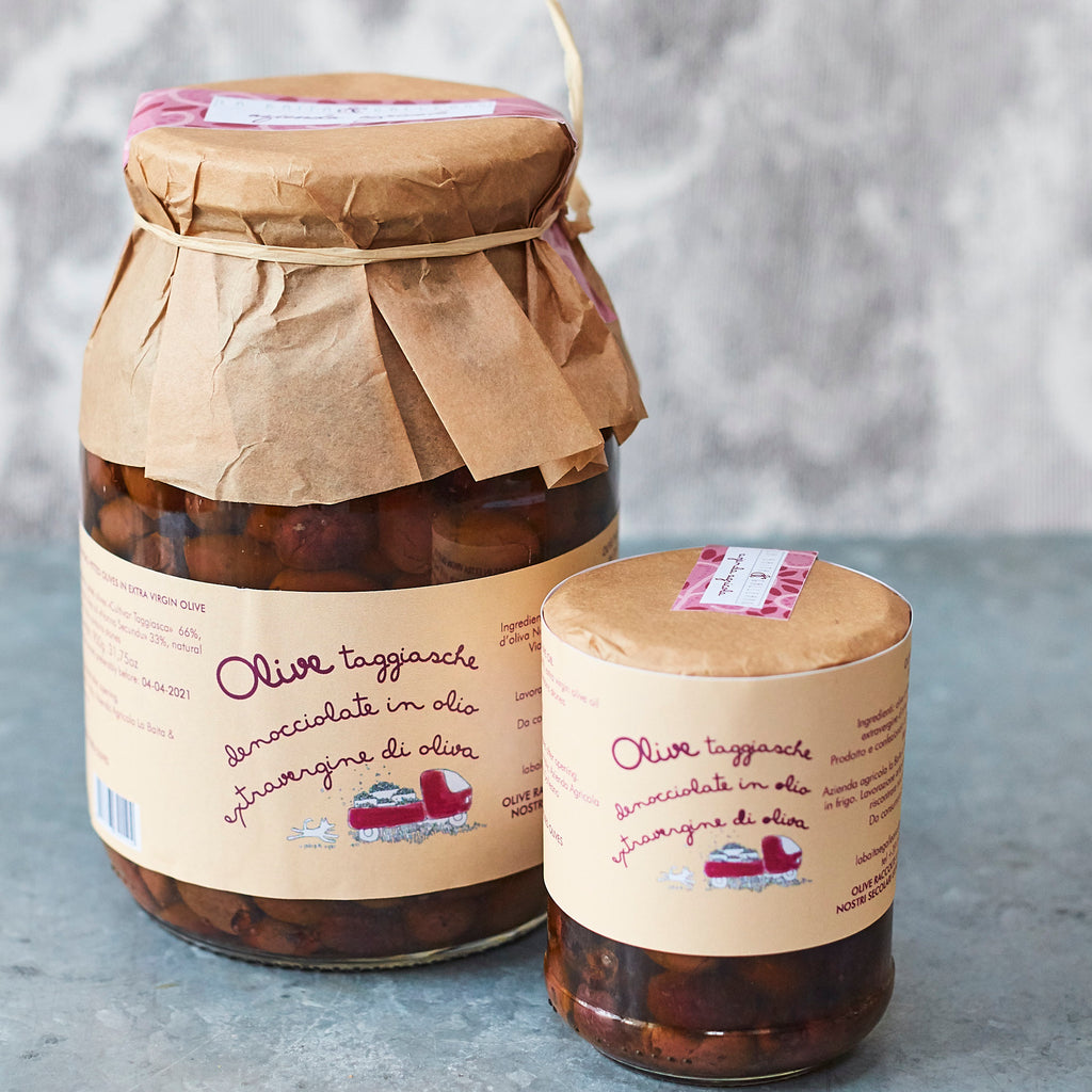 Taggiasca Olives in Extra-Virgin Olive Oil - Vinegar Shed