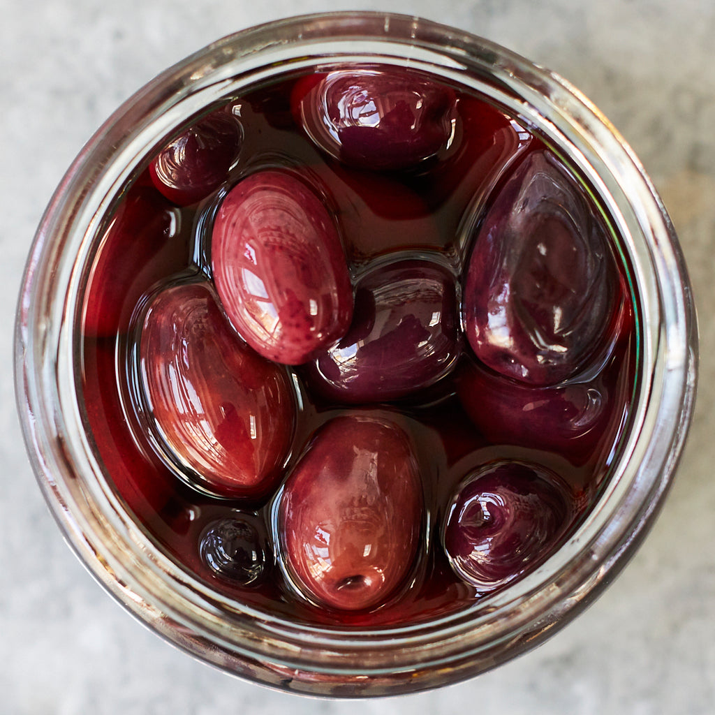 Kalamon Olives with Sea Salt - Vinegar Shed