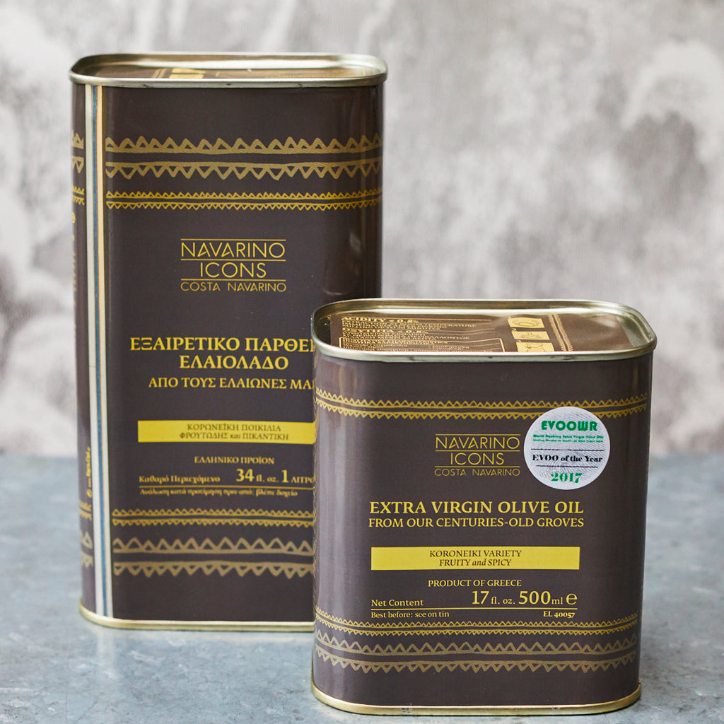 Navarino Icons Extra-Virgin Olive Oil TIN - Vinegar Shed