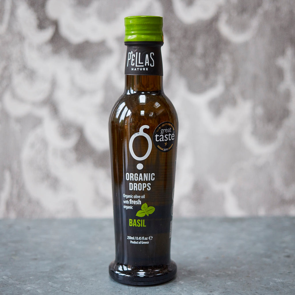 Pellas Organic Drops Basil Extra-Virgin Olive Oil - Vinegar Shed