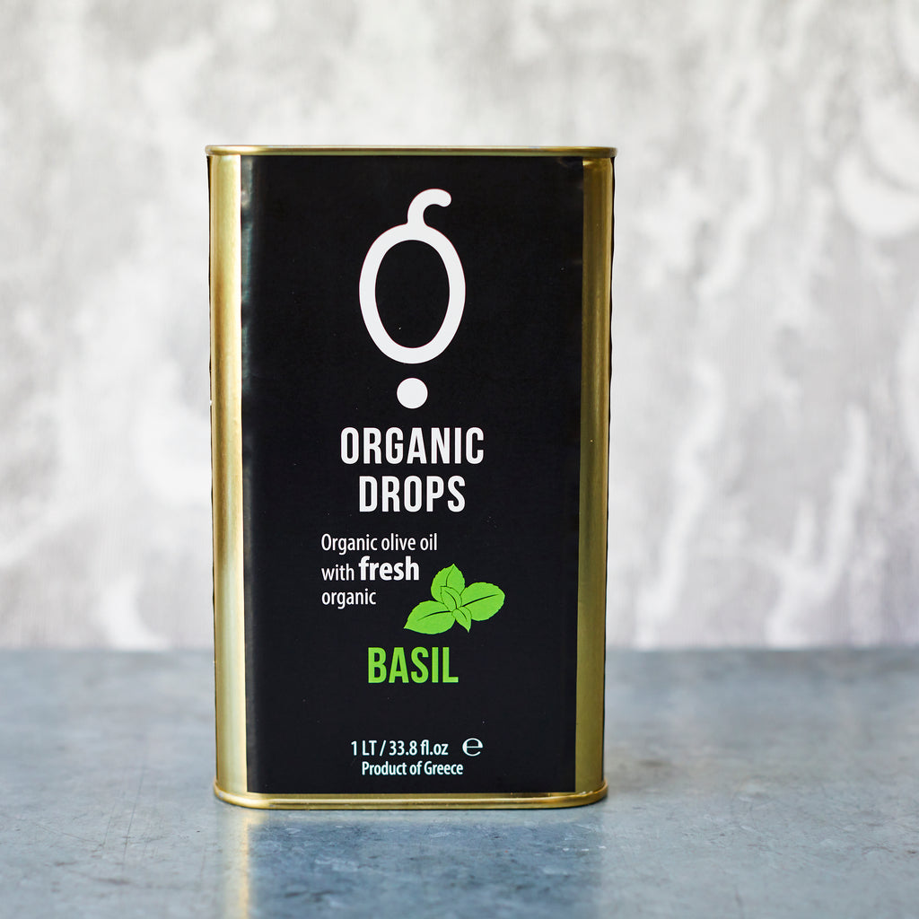 Pellas Nature Organic Drops Basil Olive Oil - Vinegar Shed