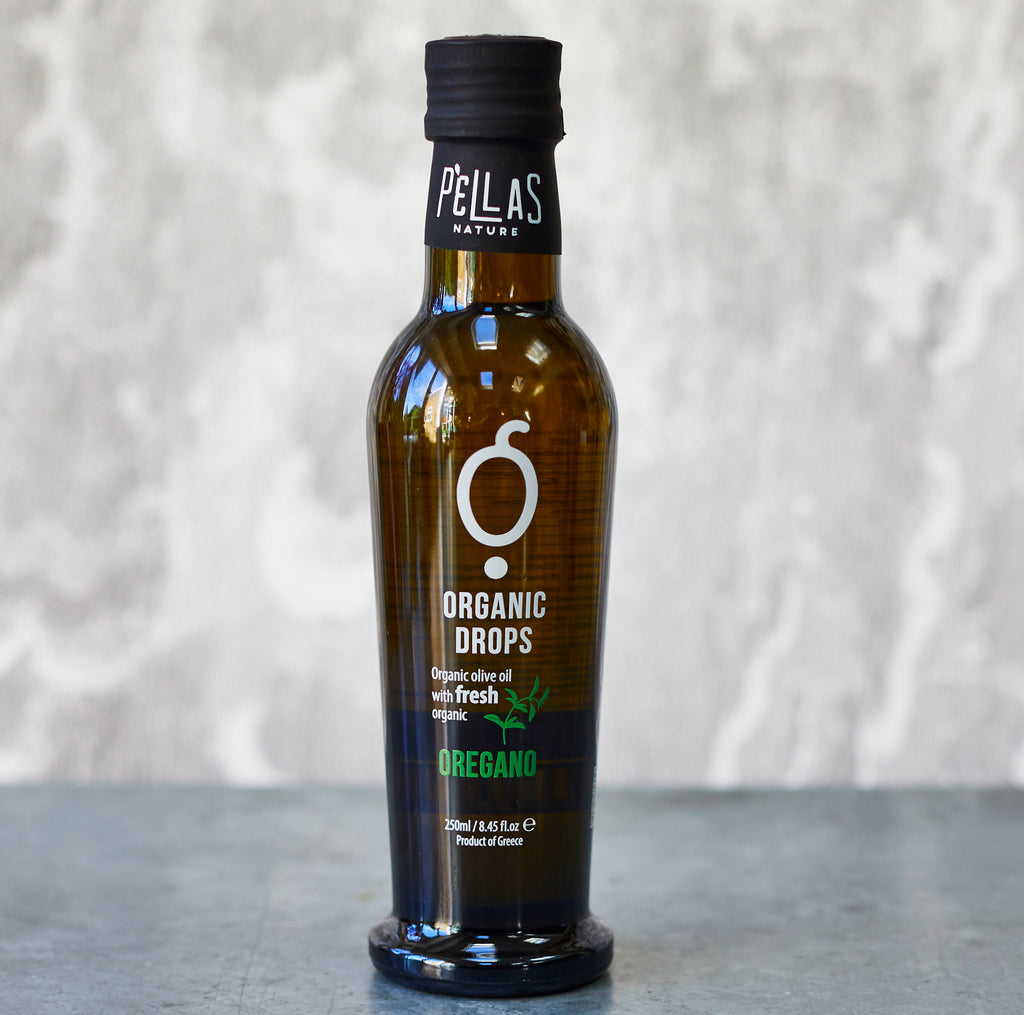 Pellas Nature Organic Drops Greek Herbs Olive Oil Kit - Vinegar Shed