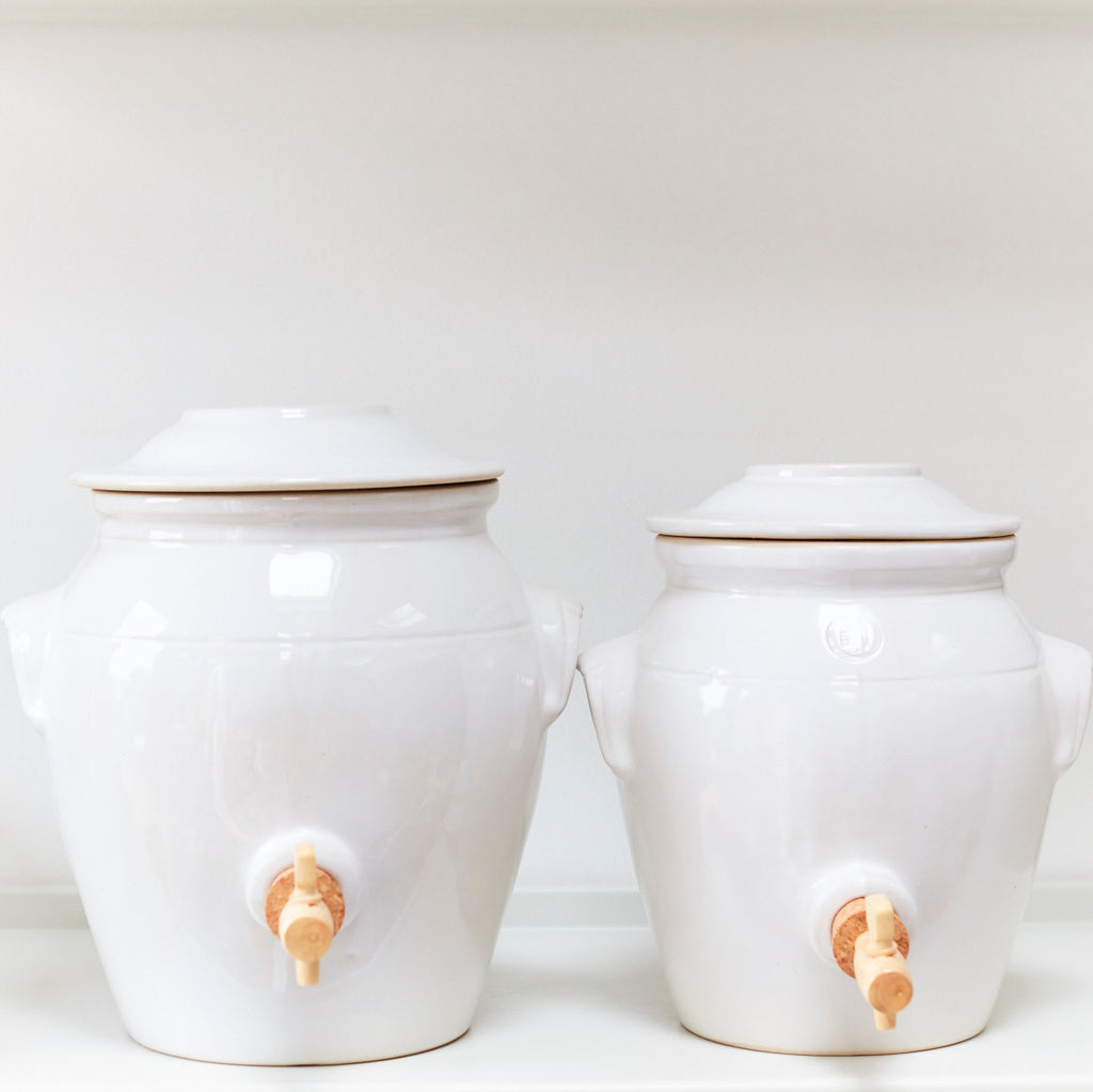 Vinegar Pot - Pure White - Vinegar Shed