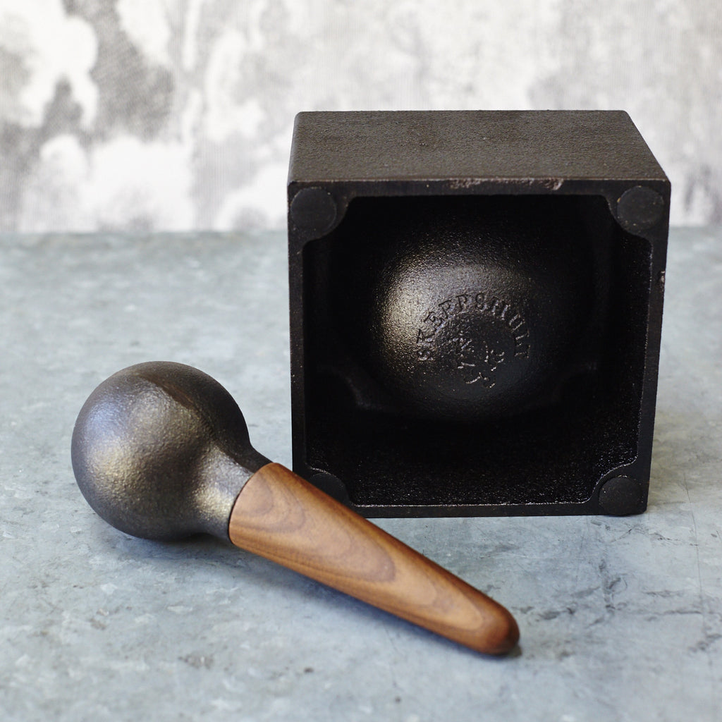 Skeppshult Cast-Iron Mortar and Pestle - Square - Vinegar Shed