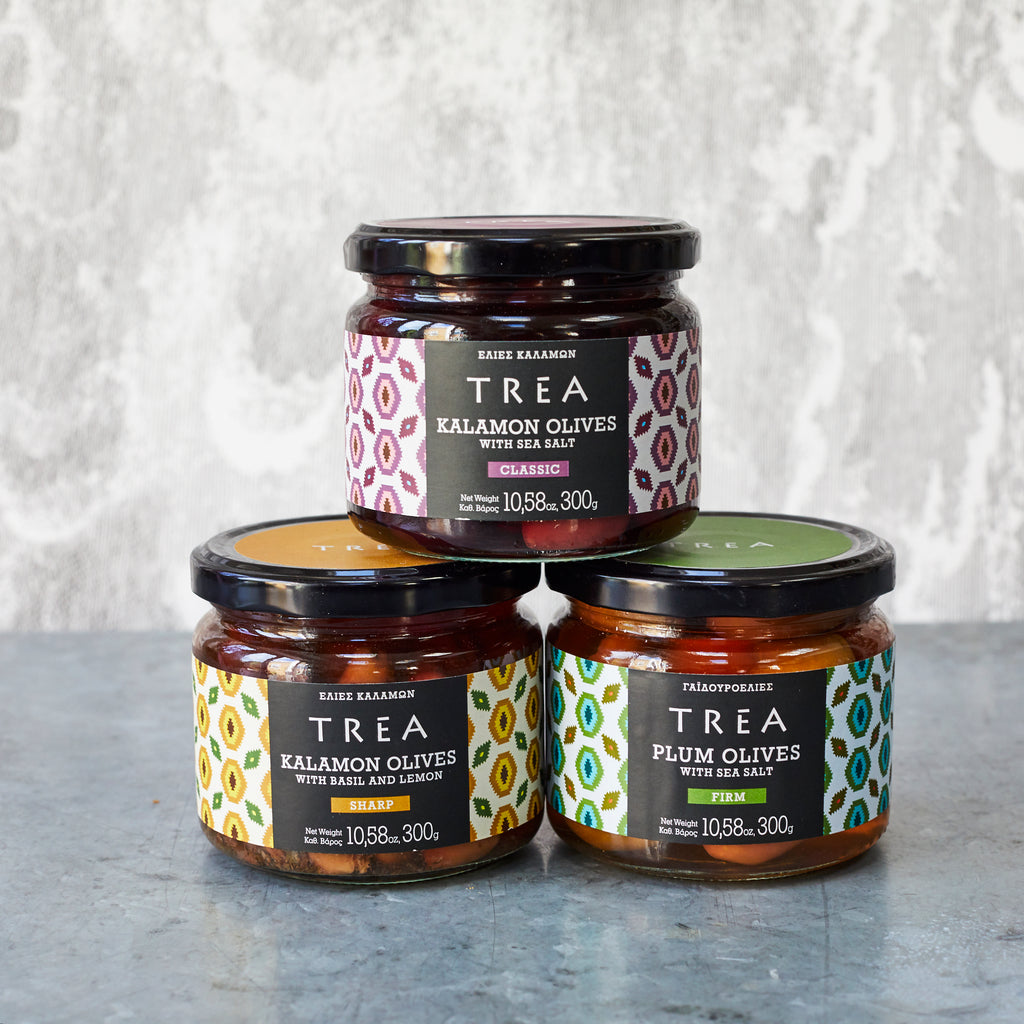 Trea Kalamon Olives with Basil & Lemon - Vinegar Shed