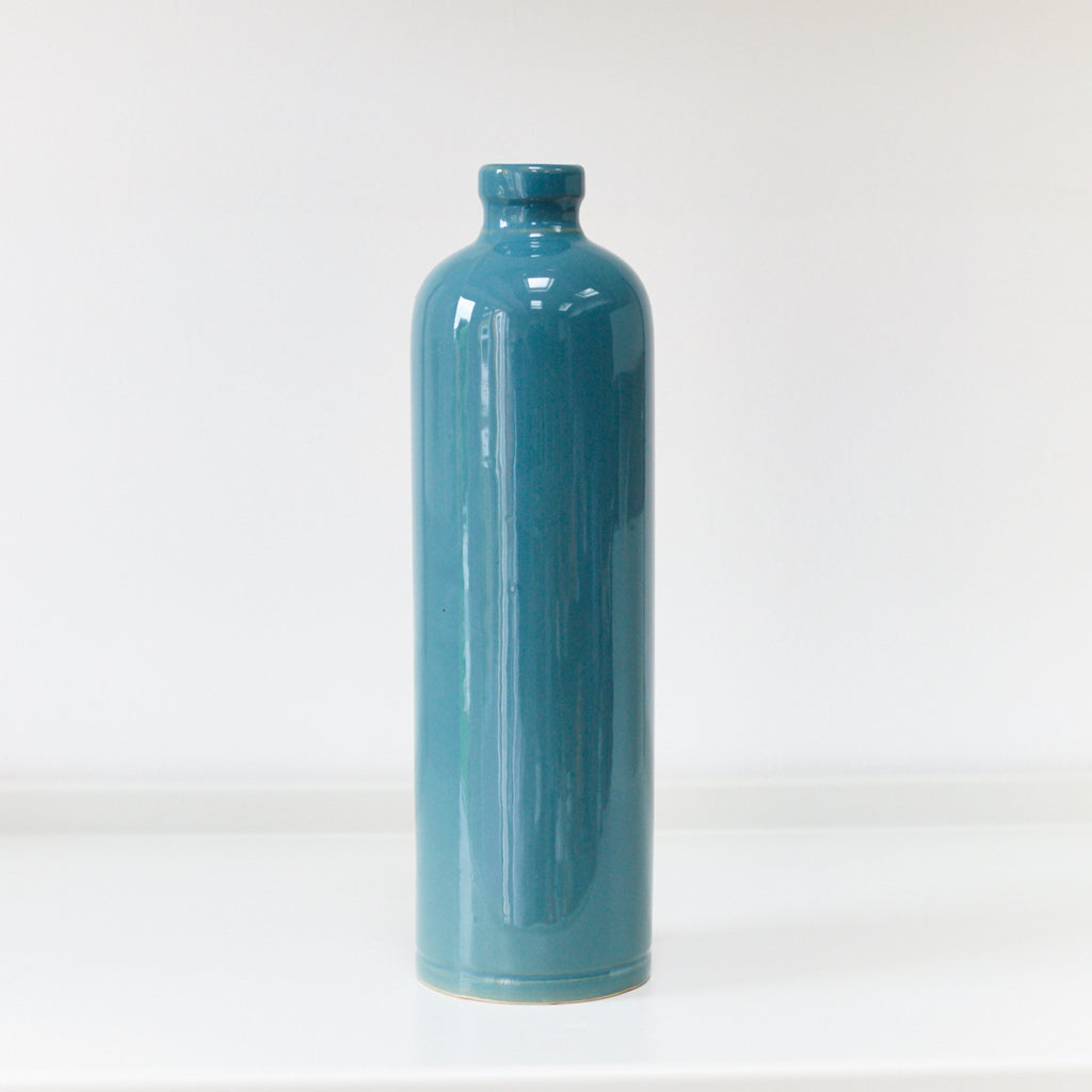 Oil or Vinegar Bottle - Teal - Vinegar Shed