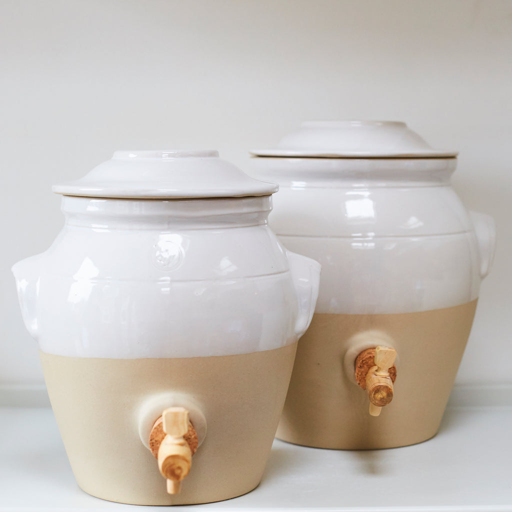 Vinegar Pot - White - Vinegar Shed