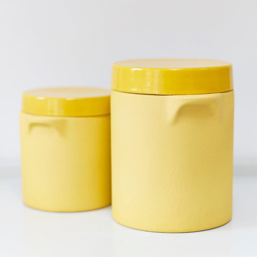 672949943557 Mustard Yellow Storage Jars