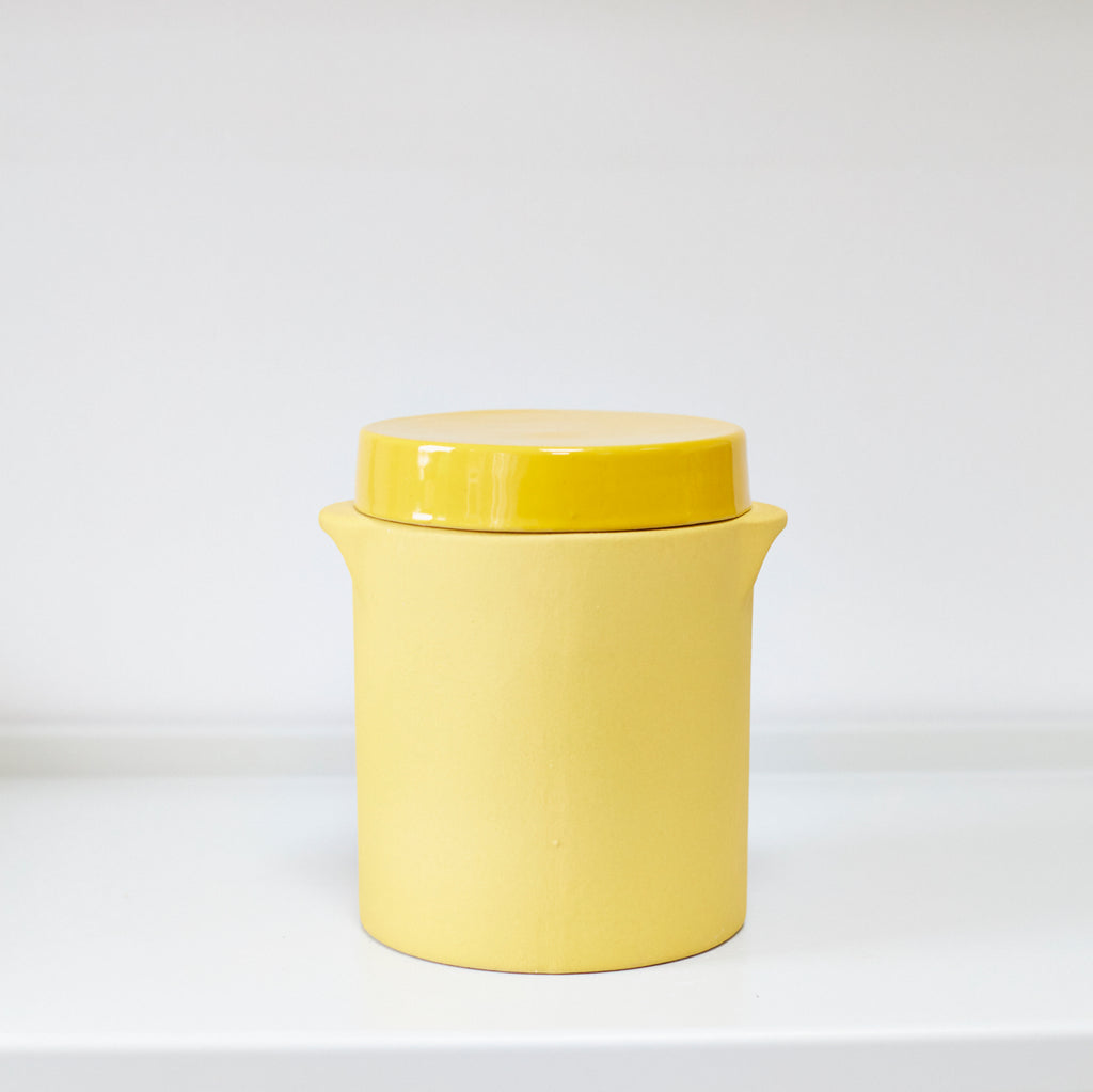 Mustard Yellow Storage Jars - Vinegar Shed