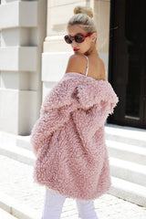 MIA& COAT PINK FUR Coat