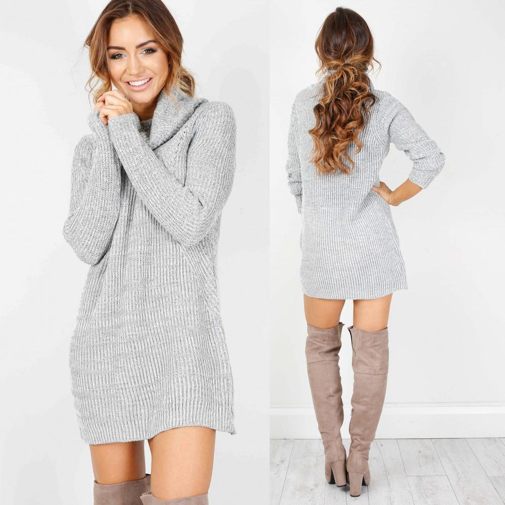 MIA& DRESSES SWEATER-DRESS Mini