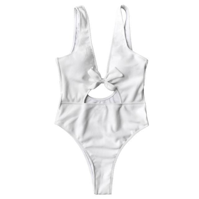 MIA& ONE PIECE SWIMSUIT White / L HIGH-CUT Monokini