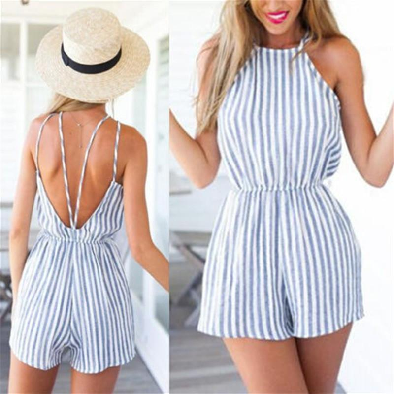 MIA& ROMPERS BLUE STRIPES Romper