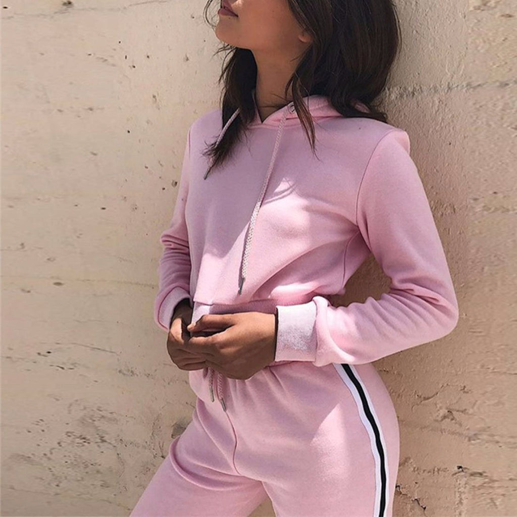 MIA& SUITS HOODED TRACKSUIT Set