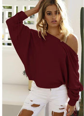 MIA& SWEATER Wine red / S JUMPY SLEEVE Sweater