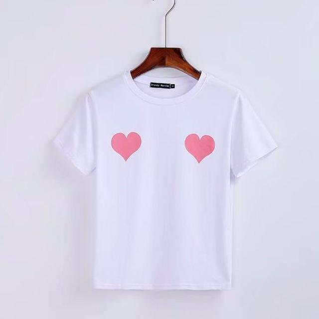 MIA& TEE Pink / S TWO HEARTS Tee