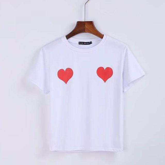 MIA& TEE Red / S TWO HEARTS Tee