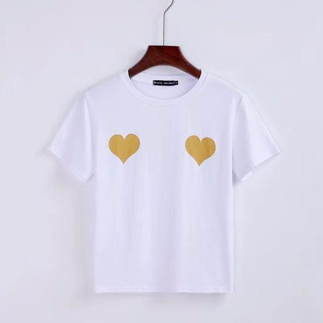 MIA& TEE Yellow / S TWO HEARTS Tee